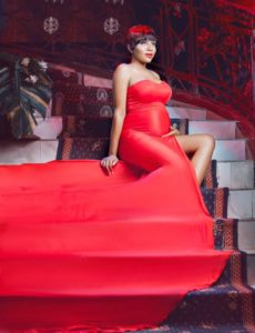 Exclusive Photos: Syndy Emade shows off her sizeable baby bump
