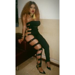 Blanche Bailly flaunts her voluptuous body.